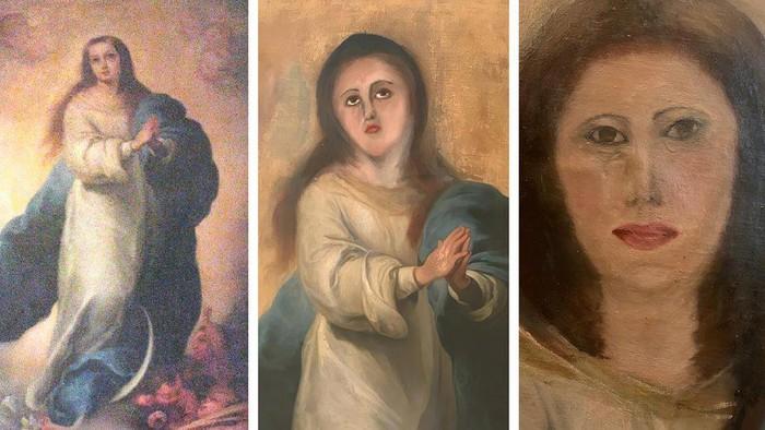 Wajah berubah mirip monyet dan sulit dikenali - Beberapa restorasi yang gagal atas lukisan-lukisan termasyhur zaman Barok
