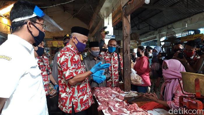 Gugus Tugas bersama Forkompimda Boyolali memantau kondisi pasar tradisional, Kamis (25/6/2020).