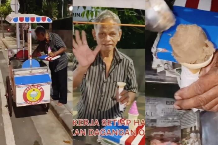 Kakek Penjual Es Krim di Surabaya
