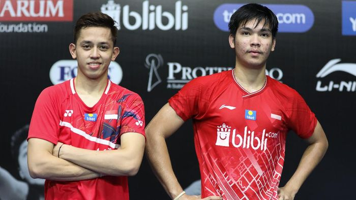 Muhammad Rian Ardianto di PBSI Home Tournament.