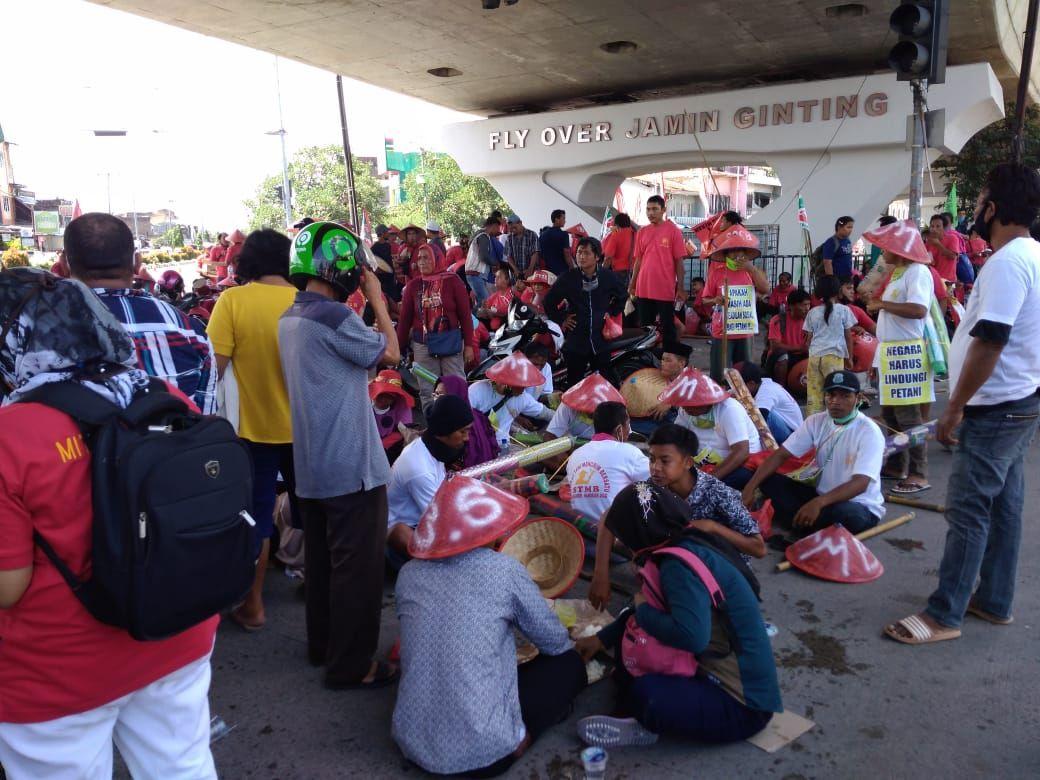 Petani gelar aksi jalan kaki dari Medan ke Jakarta (Datuk Haris-detikcom)