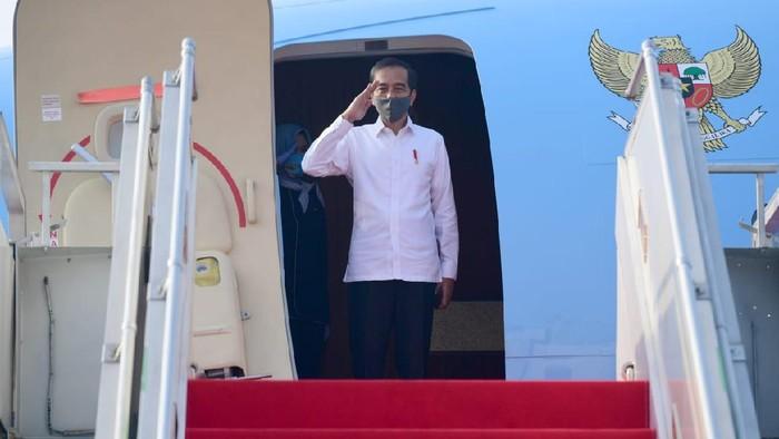 Presiden Jokowi bertolak ke Jawa Timur.