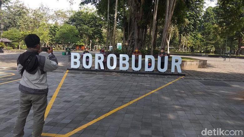 Pascaditutup imbas pandemi Corona, Candi Borobudur sudah kembali dibuka. Namun, pembukaan ini masih dalam uji coba.