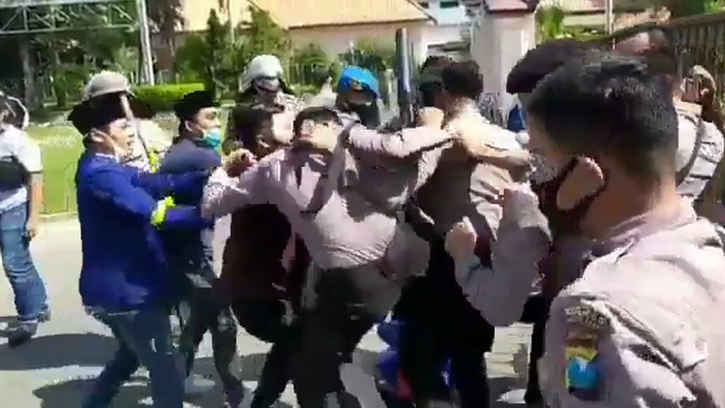Mahasiswa Sebut Oknum Polisi Terduga Pelaku Kekerasan Punya Dendam Pribadi