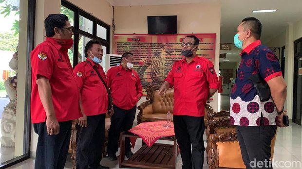 DPC BMI Kota Semarang mendatangi Mapolrestabes Semarang bahas pembakaran bendera, Jumat (26/6/2020).