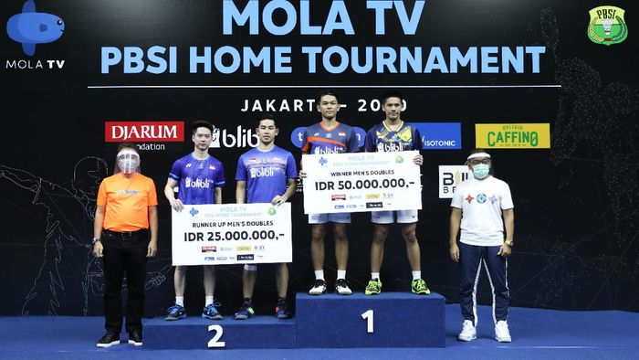 Fajar Alfian di PBSI Home Tournament