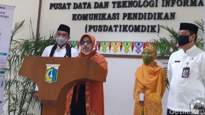 Jumpa pers Disdik DKI tentang PPDB Jakarta (Rahel/detikcom)