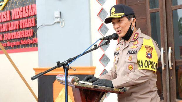 Kapolda Kalsel Irjen Nico Afinta cek kampung tangguh di Kotabaru