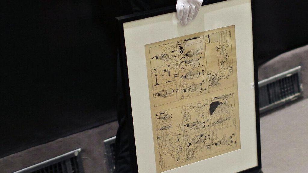 Sampul Komik Tintin yang Sindir Hitler Dilelang Capai Rp 5,6 Miliar