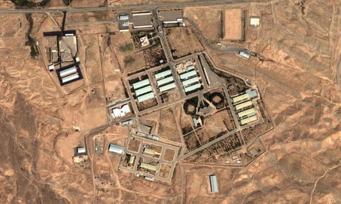 Pangkalan militer Iran di Parchin dilihat dari satelit (AP Photo)