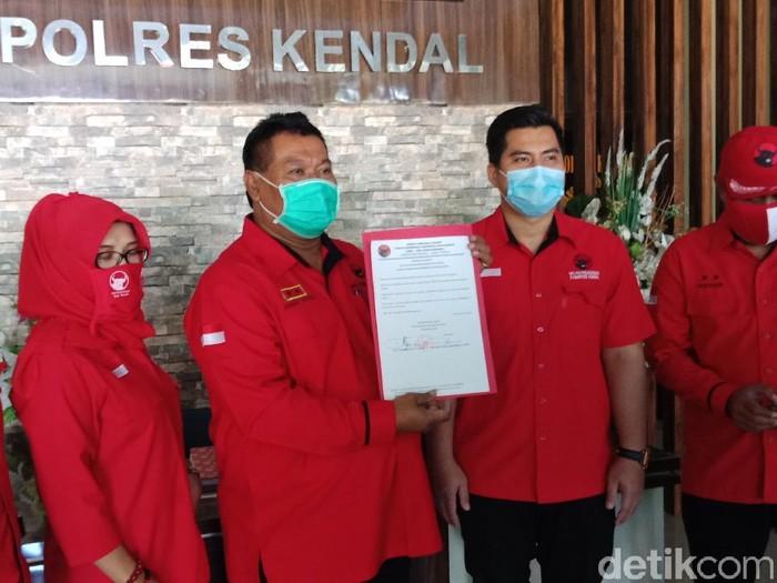 PDIP Kendal datangi Mapolres Kendal terkait pembakaran bendera partai, Jumat (26/6/2020).