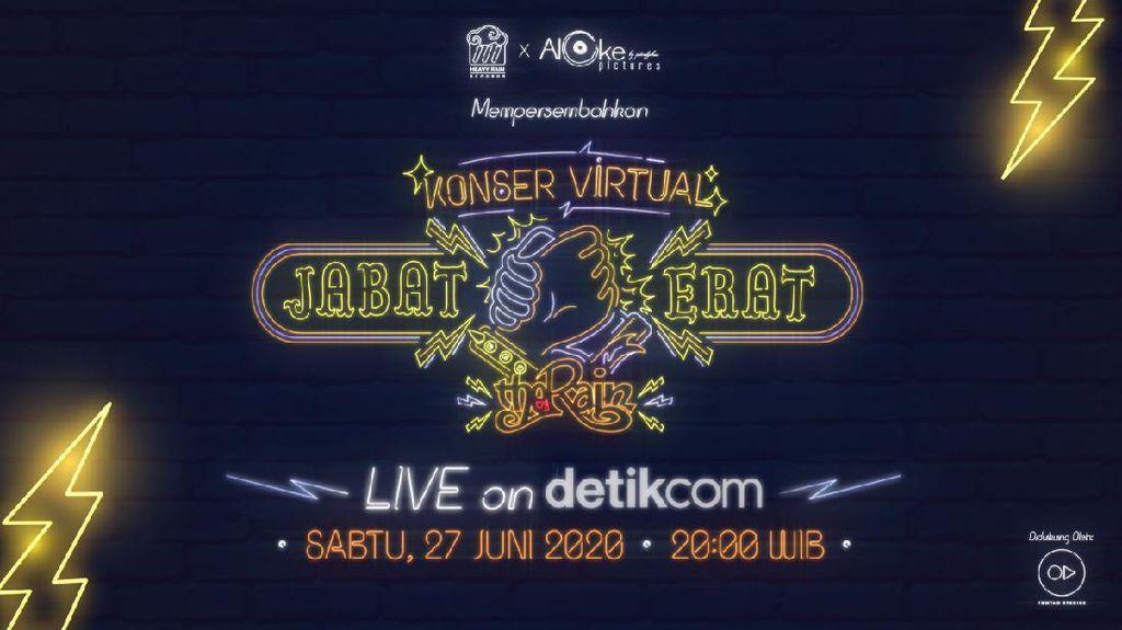 Tonton Konser Virtual Jabat Erat The Rain Live on detikcom di Sini
