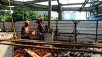 Melihat Pembangunan Skybridge Integrasi MRT ASEAN-TransJ CSW