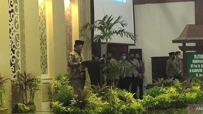 Menko Polhukam Mahfud Md di Pamekasan, Jawa Timur