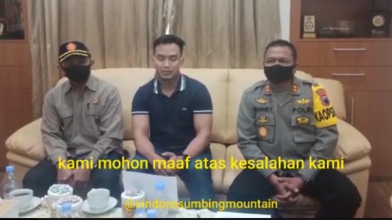 Video Doni Tata Meminta Maaf Trabas di Gunung Sumbing