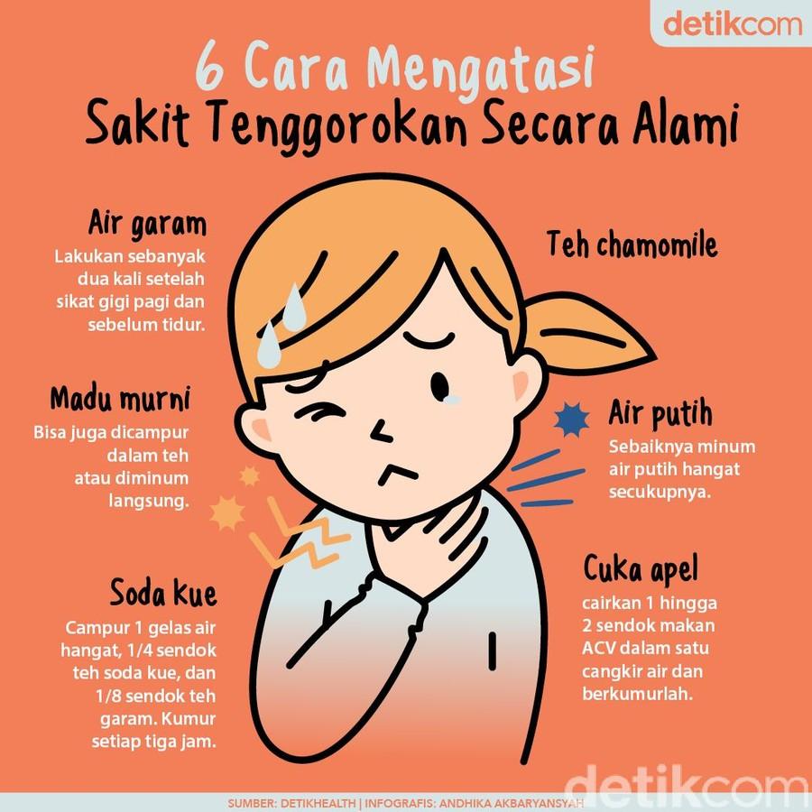 6 Cara mengatasi sakit tenggorokan