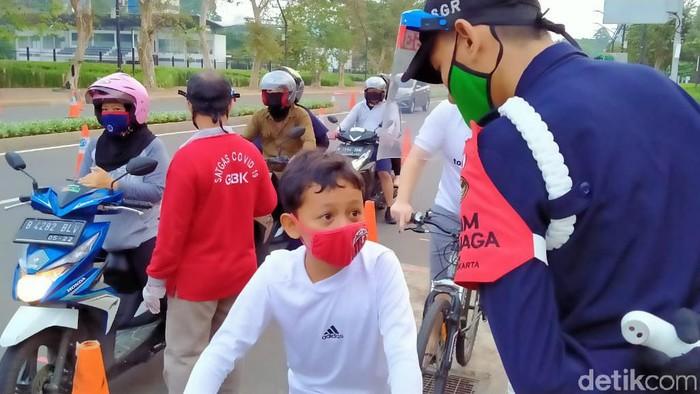 anak-anak masih leluasa masuk area GBK