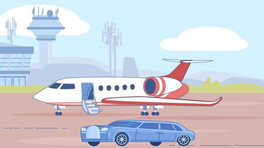 Private Jet Diburu Miliuner