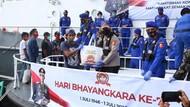 Jelang HUT Bhayangkara, Korpolairud Polri Bagikan Sembako ke Nelayan