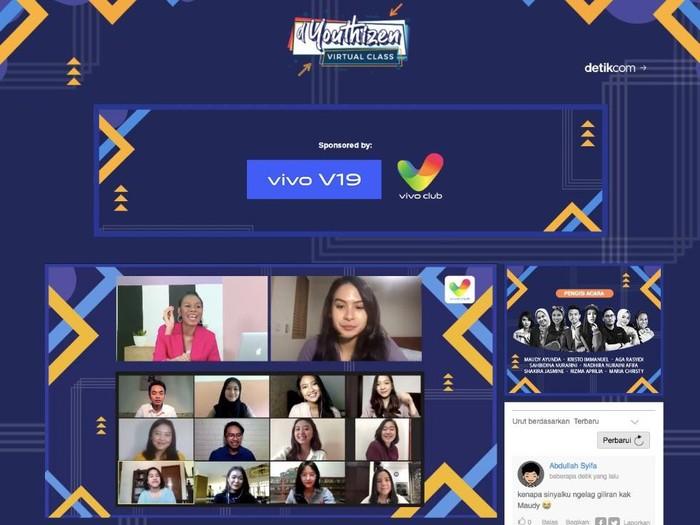 Suasana dYouthizen Virtual Class Jilid 3 Hari Pertama