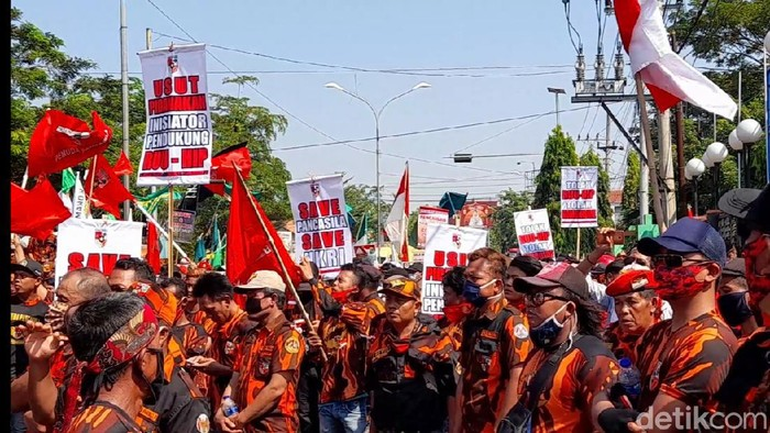 Aksi menolak RUU HIP di Brebes, 29 Juni 2020