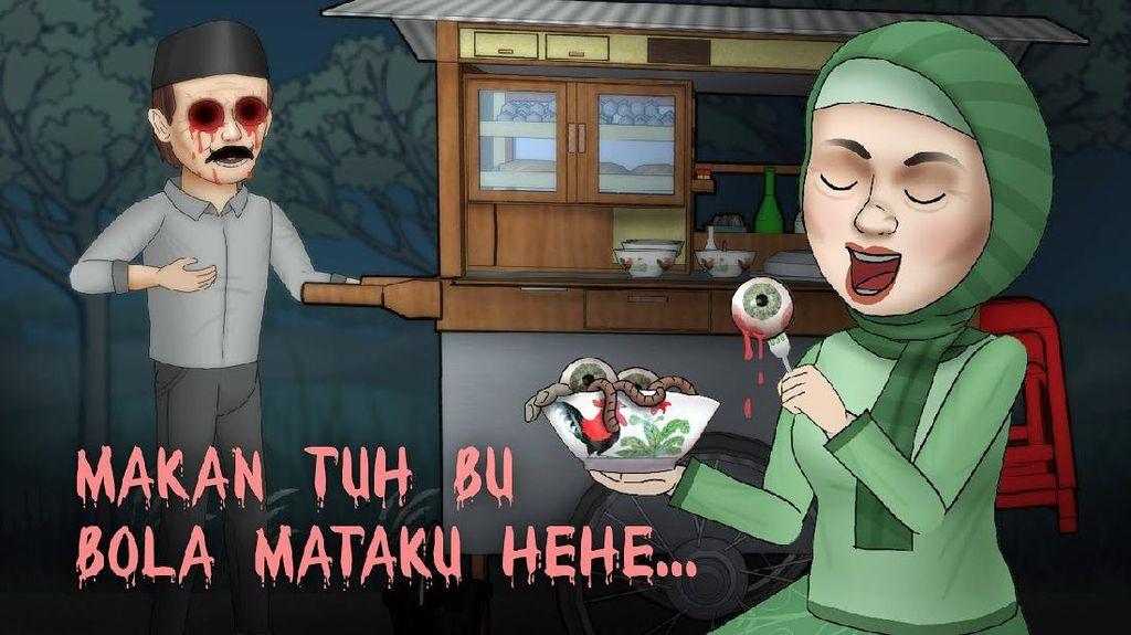 Animasi Lokal Hantu Kulineran di YouTube Ini Ditonton Puluhan Juta Orang