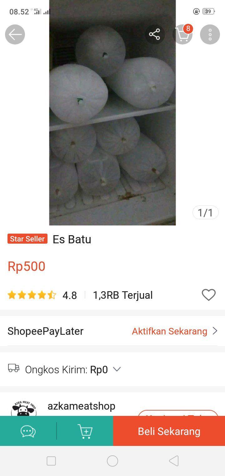 Viral Es Batu Dijual Online