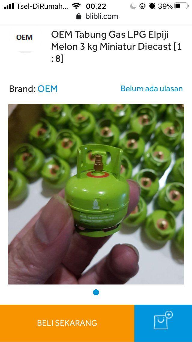 jualan gas miniatur