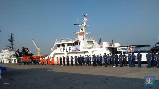 Suasana apel siaga jelang pemberlakuan TSS di Selat Lombok