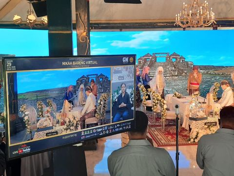 Prosesi nikah virtual di Pendopo Agung Royal Ambarukmo