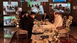 10 Pasangan Menikah Bareng Secara Virtual, Pertamakalinya di Indonesia