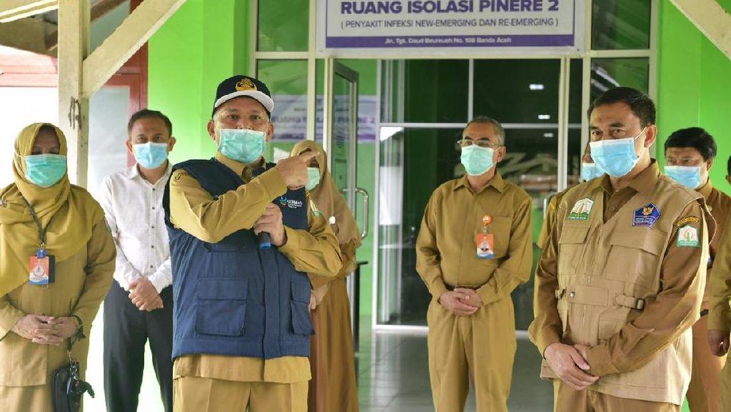Antisipasi Lonjakan Kasus Positif Corona, RSUZA Aceh Tambah 24 Ruang Isolasi