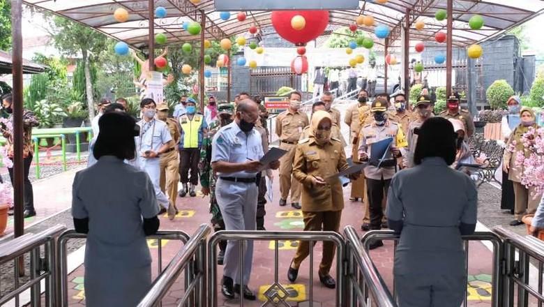 Simulasi rencana pembukaan Objek Wisata Taman Kyai Langgeng di Kota Magelang.