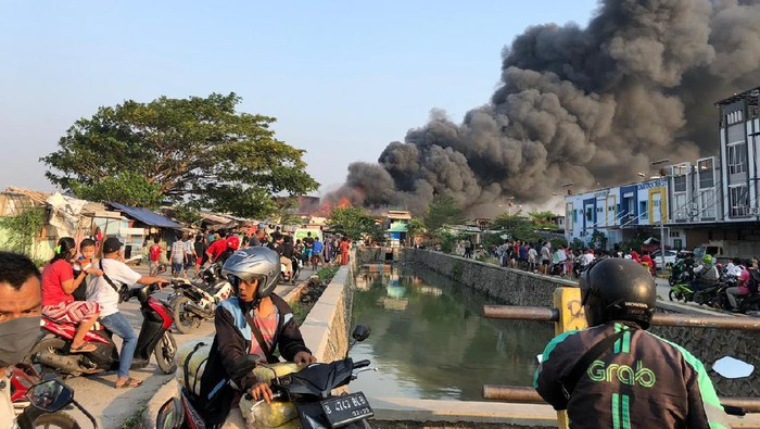 Situasi kebakaran di Cengkareng