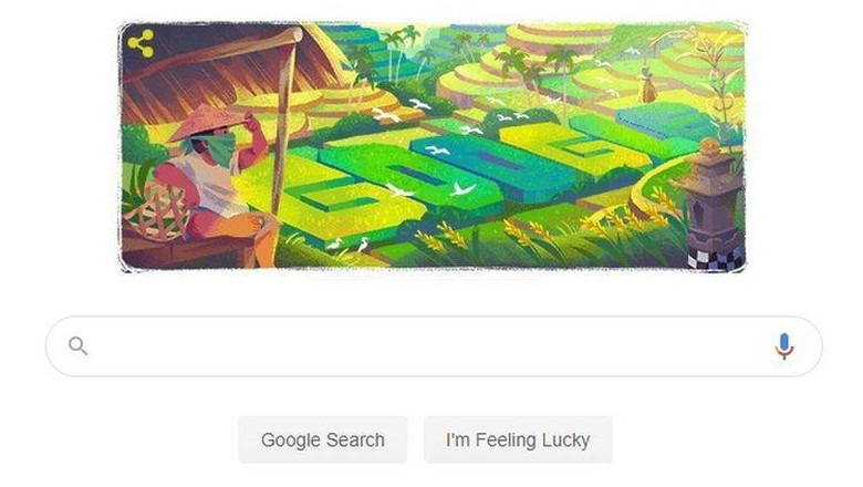 Warisan Budaya Bali Subak Jadi Google Doodle Hari Ini