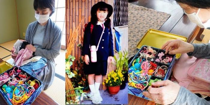 Yuki Tsukamoto saat membersihkan kamar almarhum anaknya