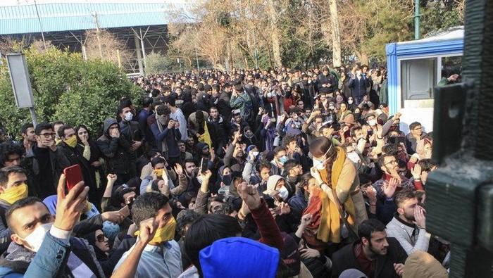 Demonstrasi 2017, Iran (AP Photo)