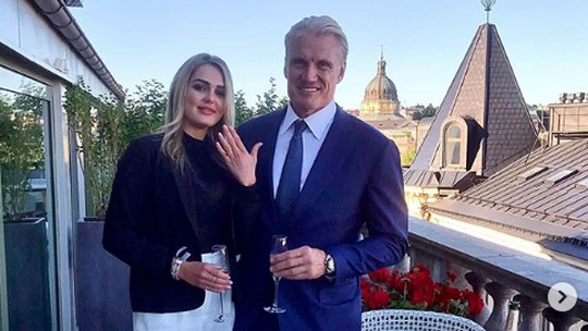 Seumuran, Ini Foto Tunangan dan Putri Dolph Lundgren