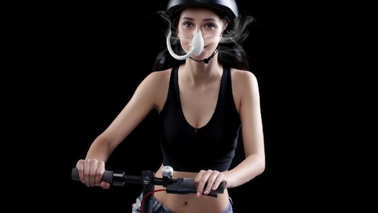 Alat penyaring udara untuk pesepeda