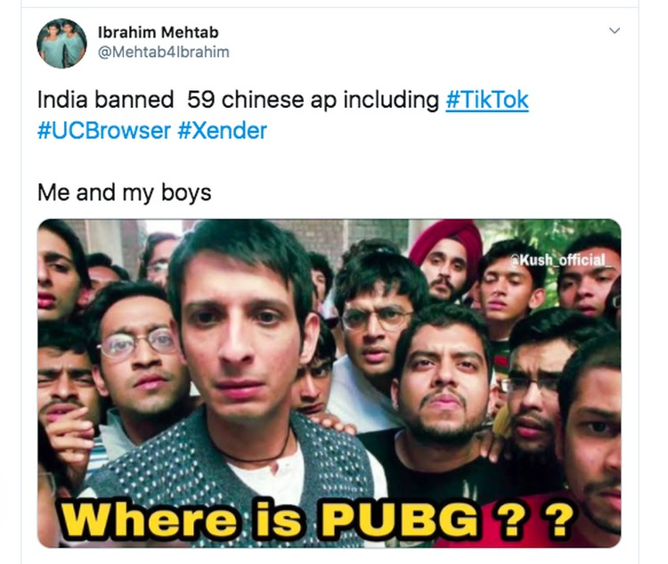 Meme TikTok PUBG