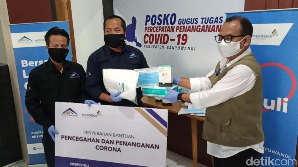 Operator Tambang Emas Banyuwangi Gelontorkan Rp 3 Miliar Tangani COVID-19
