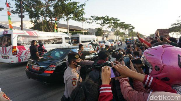 Presiden Joko Widodo (Jokowi) berkunjung ke Demak, Jawa Tengah, Selasa (30/6/2020).