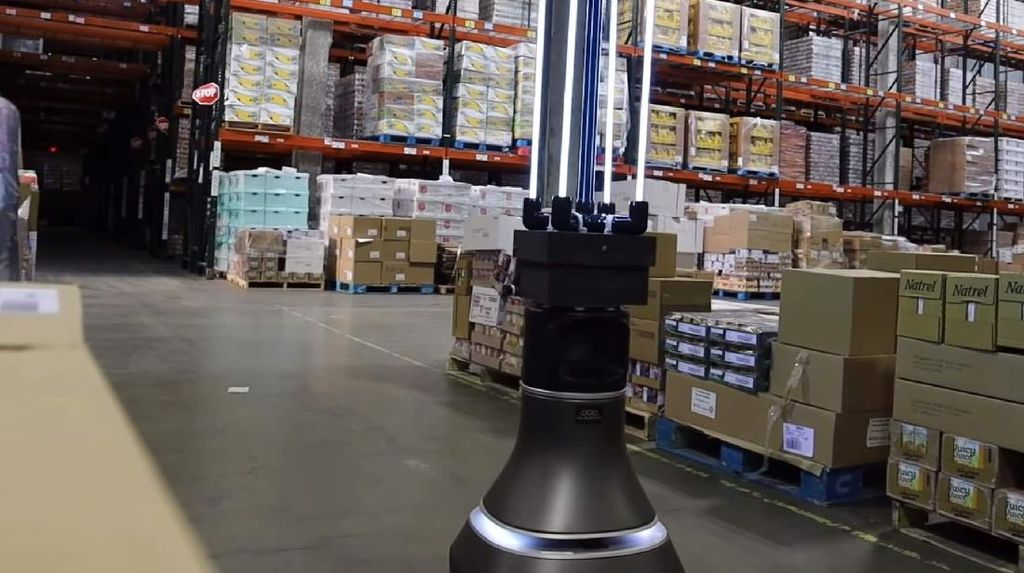 Robot Bersenjata Sinar UV Ditugaskan Bunuh Virus Corona