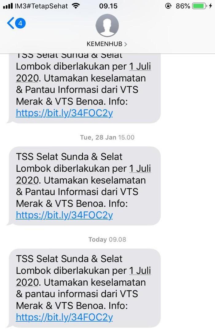 SMS Kemenhub