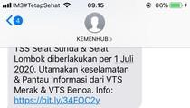 Kemenhub Sosialisasi TSS Selat Sunda & Lombok Melalui SMS Broadcast