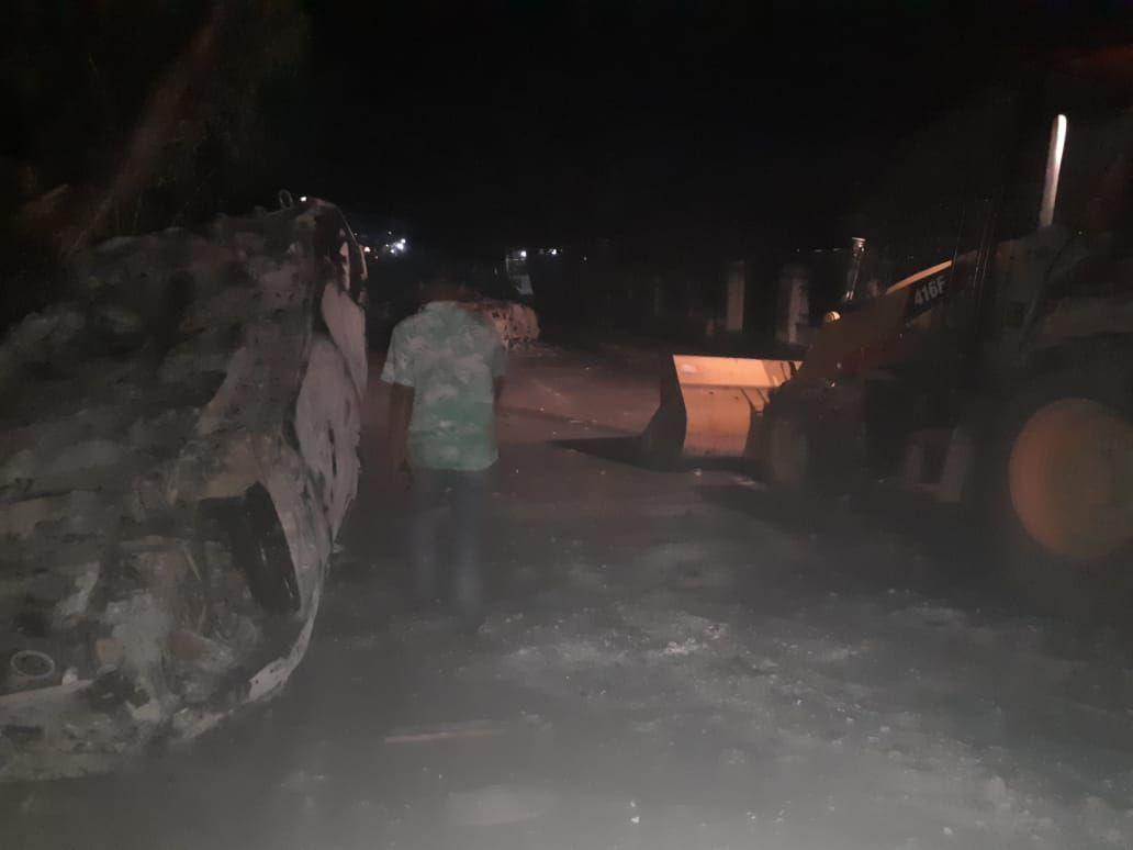 Suasana akibat kericuhan di Madina Sumut (dok. Istimewa)
