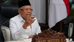 Kunker Perdana di New Normal, Maruf Amin Tinjau SMA-Ponpers di Sukabumi