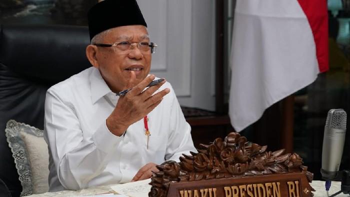 Wakil Presiden Maruf Amin saat rapat Komite Pengarah Reformasi Birokrasi Nasional (KPRBN).