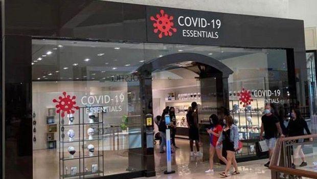 Toko khusus menjual produk pencegahan COVID-19 di Miami, Amerika Serikat.