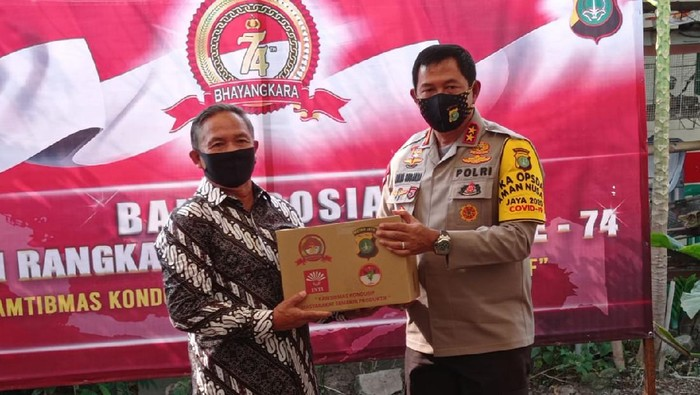 Hari Bhayangkara, Kapolda Beri Bantuan di Asrama Polri Petamburan